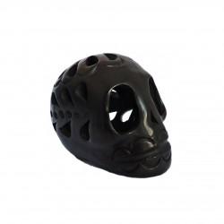 Cráneo de Barro Negro chiquito - Cráneo decorado mexicano - Casa Frida