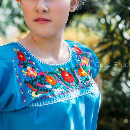 Mexican blouse blue