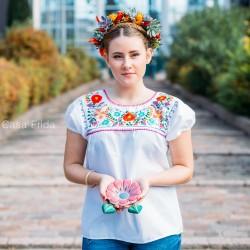 Blusa mexicana blanca