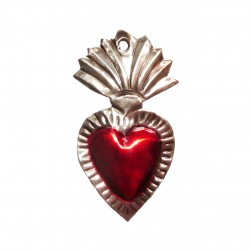 Tin sacred heart with large flame