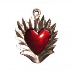 Sagrado corazón con halo de llamas