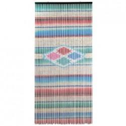Rideau de porte Sarape - Perles en bambou, motif mexicain - Casa Frida
