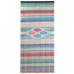 Sarape door curtain - Bamboo curtain, Mexican decor - Casa Frida