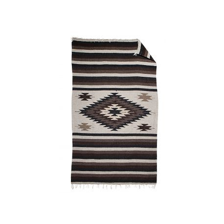 Couverture mexicaine Aztec - Marron - Artisanat