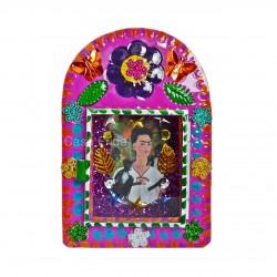 Niche métal Frida Kahlo rose - Autel mexicain - Casa Frida