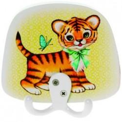 Gancho de madera Tigre - Kitsch Kichen - Por niños - Casa Frida
