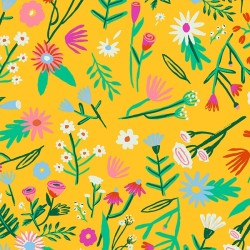 Oilcloth Flower Field