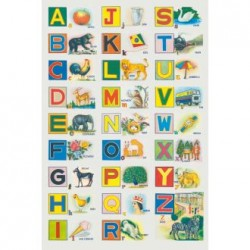 Poster Illustrated alphabet