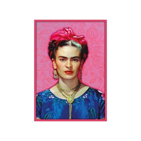 Poster Frida Kahlo Pink Mexican Feminist Painter Casa Frida
