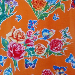 Oilcloth Mariposas Orange