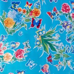 Toile cirée Mariposas Bleu