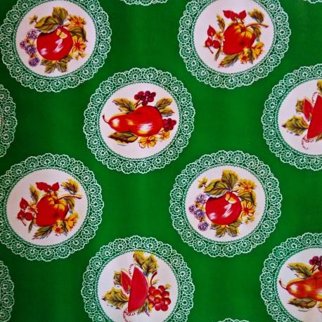 Hule Carpetas Verde
