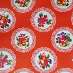 Oilcloth Carpetas Orange