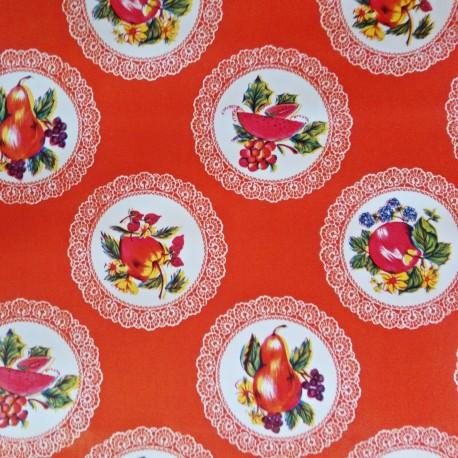 Hule Carpetas Naranja