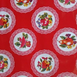 Oilcloth Carpetas Red