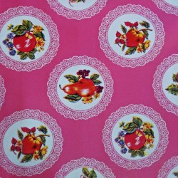 Toile cirée Carpetas Rose