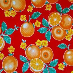 Hule Naranjas Rojo