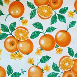Toile cirée Naranjas Blanc
