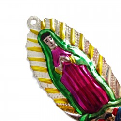 Virgin of Guadalupe tin ornament