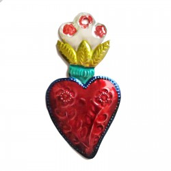 Sacred heart with flowers Yellow