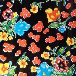 Hule Floral Negro