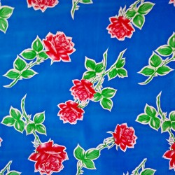 Oilcloth Rosas Blue