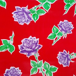 Oilcloth Rosas Red