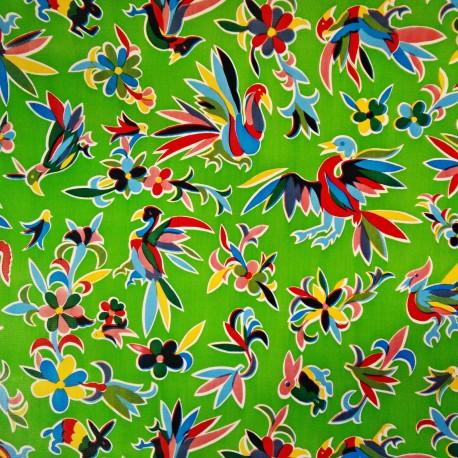 Oilcloth Otomi Green