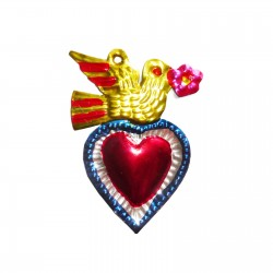 Sacred heart Bird Blue