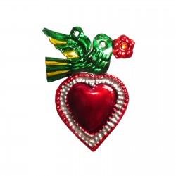 Sacred heart Bird Red