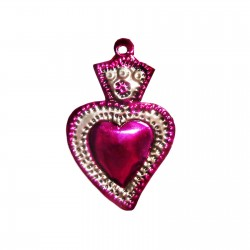 Small sacred heart with flower Pink