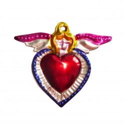 Sagrado corazón pequeño Angel Azul