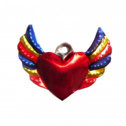 Winged small sacred heart Blue