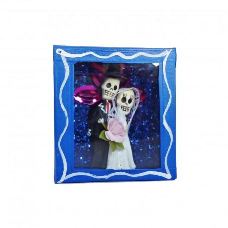 Diorama box Newlyweds Blue