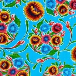 Toile cirée Dulce flor Bleu