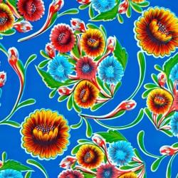 Toile cirée Dulce flor Bleu roi