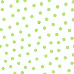 Green Polka dots oilcloth