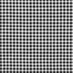 Black Gingham oilcloth