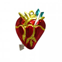 Anatomical heart tin ornament
