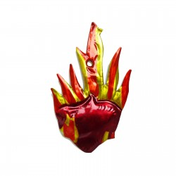 Flaming heart tin ornament