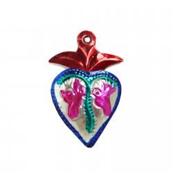 Coeur sacré aux colombes Rouge