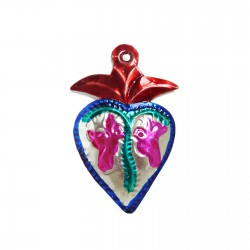 Doves tin sacred heart Red