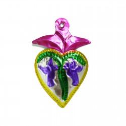 Coeur sacré aux colombes Rose