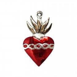 Sagrado corazón con corona de espinas