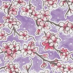 Lilac Flor de cereza oilcloth