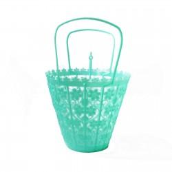 Petit panier rétro Turquoise