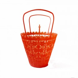 Red Small retro basket