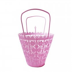 Pink Small retro basket