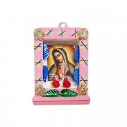 Petite niche Vierge de Guadalupe Rose