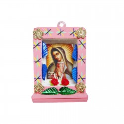 Pink Small Virgin of Guadalupe shrine